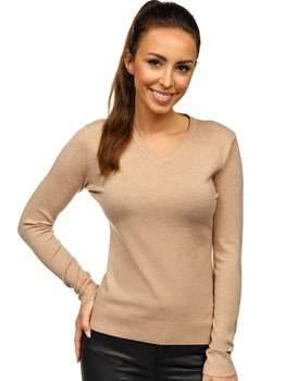Bolf Damen Pullover Beige  AL0204L