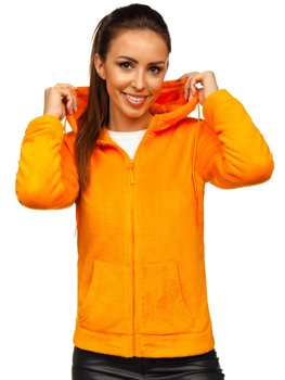 Bolf Damen Fleece Kapuzenpullover Orange  HH004