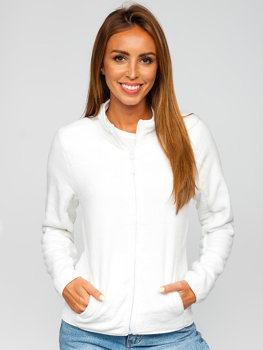 Bolf Damen Fleece Sweatshirt Weiß  HH001