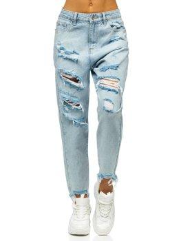 Bolf Damen Jeanshose mom fit Blau  WL1689