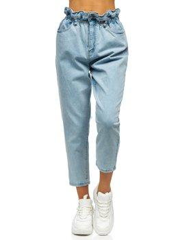 Bolf Damen Jeanshose mom fit Blau  WL1758