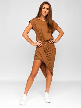 Bolf Damen Langes Kleid Camel  8812