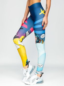 Bolf Damen Leggings Mehrfarbig  20938