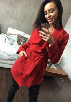 Bolf Damen Mantel Kurz Rot 1726