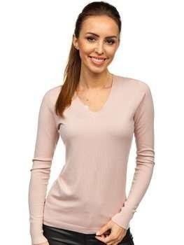 Bolf Damen Pullover mit V-Ausschnitt Rosa   CB95094C