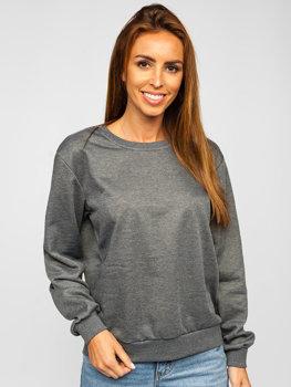 Bolf Damen Sweatshirt Schwarzgrau  WB11002