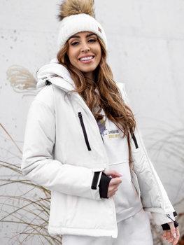 Bolf Damen Winterjacke Skijacke Weiß  HH012