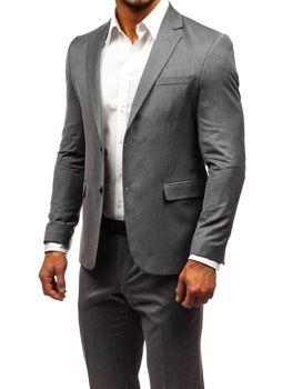 Bolf Herren Anzug Grau  172000-1