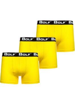 Bolf Herren Boxershorts Gelb 0953-3P 3 PACK