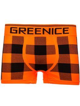 Bolf Herren Boxershorts Orange  PL4497