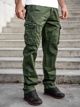Bolf Herren Cargohose mit Gürtel Plus Size Grün  CT8901