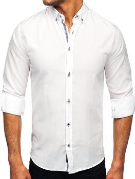 Bolf Herren Hemd Langarm Weiß  20717