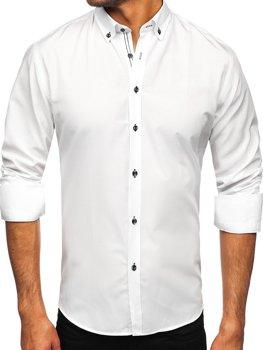 Bolf Herren Hemd Langarm Weiß  20720