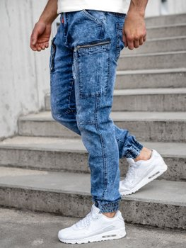 Bolf Herren Jeans Jogger Pants Cargohose Dunkelblau T352