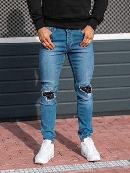 Bolf Herren Jeanshose Jogger Blau  2044-1