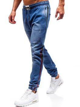 Bolf Herren Jeanshose Jogger Blau  2053