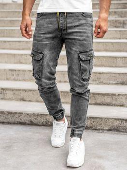 Bolf Herren Jeanshose Jogger Pants Schwarz HY689