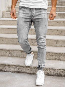Bolf Herren Jeanshose Jogger Pants Schwarz  KA1828