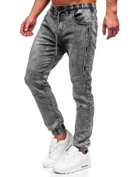 Bolf Herren Jeanshose Jogger Pants Schwarz  TF052