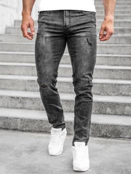 Bolf Herren Jeanshose regular fit Schwarz  K10006-2