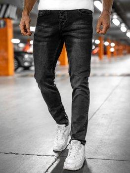Bolf Herren Jeanshose regular fit Schwarz  R903