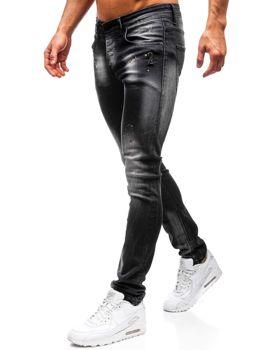 Bolf Herren Jeanshose skinny fit Schwarz  9231
