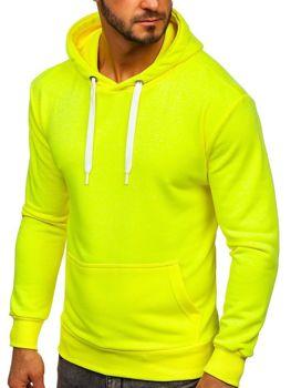 Bolf Herren Kapuzenpullover Gelb-neon  1004