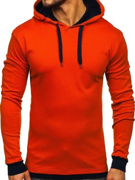 Bolf Herren Kapuzenpullover Orange  145380