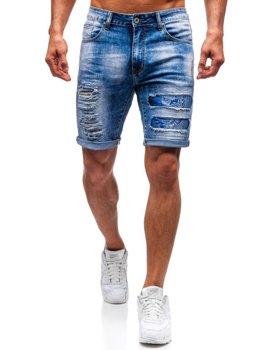 Bolf Herren Kurze Jeanshose Blau  T577