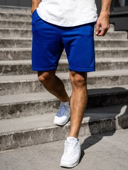 Bolf Herren Kurze Sporthose Blau B1002
