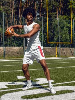 Bolf Herren Kurze Sporthose Weiß  KS2595