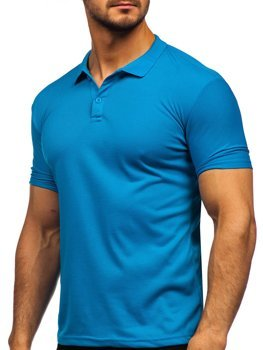 Bolf Herren Poloshirt Blau  GD02