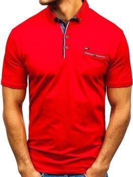 Bolf Herren Poloshirt Rot  192037
