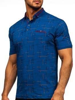 Bolf Herren Poloshirt mit Motiv Blau 192232
