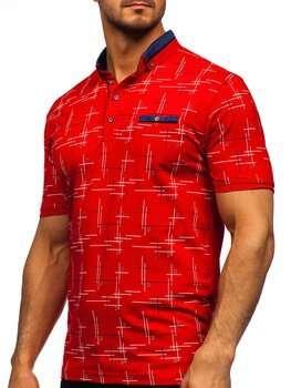 Bolf Herren Poloshirt mit Motiv Rot 192232