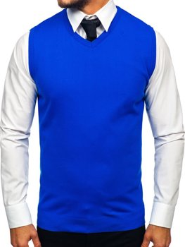 Bolf Herren Pullover Ärmellos Blau  2500