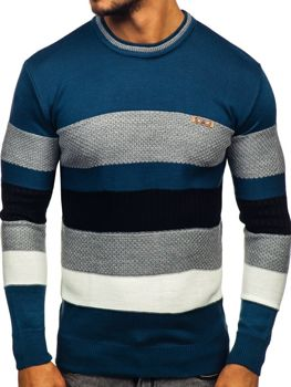 Bolf Herren Pullover Blau  04