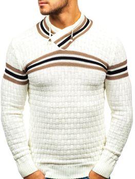 Bolf Herren Pullover Ecru  6006