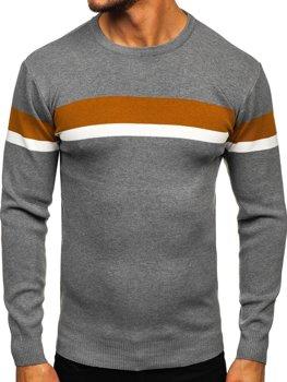 Bolf Herren Pullover Grau H2072