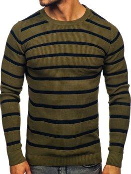 Bolf Herren Pullover Grün  4356