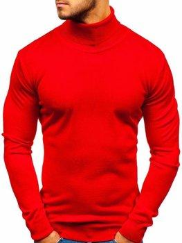Bolf Herren Pullover Rollkragen Rot  2400