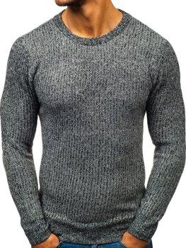 Bolf Herren Pullover Schwarzgrau  H1818
