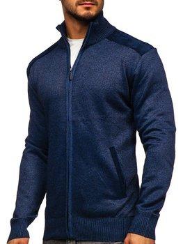 Bolf Herren Pullover mit Stehkragen Blau  H2057