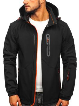 Bolf Herren Softshell Jacke Schwarz-Orange  12263