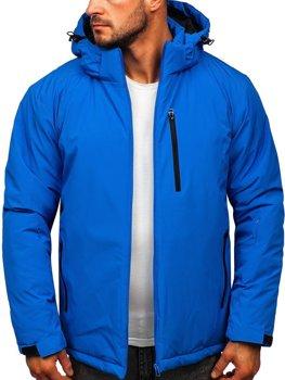 Bolf Herren Sport Winterjacke Skijacke Blau  HH011