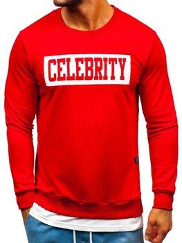 Bolf Herren Sweatshirt mit Motiv Rot  11115