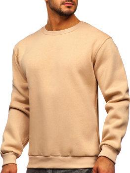 Bolf Herren Sweatshirt ohne Kapuze Beige  2001