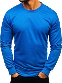 Bolf Herren Sweatshirt ohne Kapuze Blau  22003