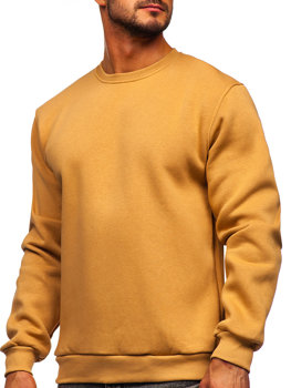 Bolf Herren Sweatshirt ohne Kapuze Braun  2001