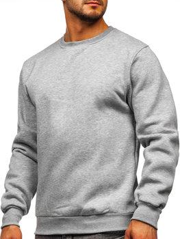 Bolf Herren Sweatshirt ohne Kapuze Dunkelgrau  2001